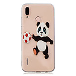cheap -Case For Huawei P20 Pro / P10 Plus Transparent / Pattern Back Cover Panda Soft TPU for Huawei P20 lite / Huawei P20 Pro / Huawei P20