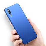 Недорогие -Кейс для Назначение Huawei P20 Pro / P20 lite Ультратонкий / Матовое Кейс на заднюю панель Однотонный Твердый ПК для Huawei P20 / Huawei