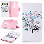 cheap -Case For Nokia Nokia 6 2018 Nokia 5 Card Holder Wallet with Stand Flip Pattern Full Body Cases Butterfly Tree Hard PU Leather for Nokia 8