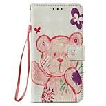 Недорогие -Кейс для Назначение Xiaomi Redmi Примечание 5A Mi 5X Бумажник для карт Кошелек со стендом Флип Магнитный Чехол Животное Твердый Кожа PU