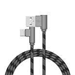 cheap -Type-C USB Cable Adapter Quick Charge Cable For Samsung / Huawei / LG 100cm Aluminum / TPE