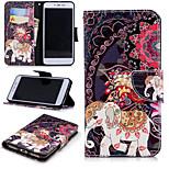 Недорогие -Кейс для Назначение Xiaomi Redmi Примечание 5A / Redmi 4X Кошелек / Бумажник для карт / со стендом Чехол Слон Твердый Кожа PU для Redmi