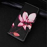 Недорогие -Кейс для Назначение Huawei P20 lite / P20 Бумажник для карт / Кошелек / со стендом Чехол Цветы Твердый Кожа PU для Huawei P20 lite /