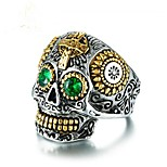 cheap -Skull Band Ring - 1 Geometric Vintage Green Ring For Party / Gift