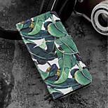 Недорогие -Кейс для Назначение Motorola Moto G6 Plus / MOTO G6 Бумажник для карт / Кошелек / со стендом Чехол дерево Твердый Кожа PU для Moto G6