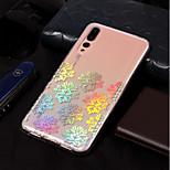 preiswerte -Hülle Für Huawei P20 lite / P20 Beschichtung / Muster Rückseite Lace Printing Weich TPU für Huawei P20 lite / Huawei P20 Pro / Huawei P20