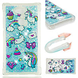 cheap -Case For Sony Xperia XZ2 / Xperia L2 Shockproof / Flowing Liquid / Pattern Back Cover Unicorn / Glitter Shine Soft TPU for Sony Xperia