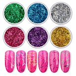 cheap -6 pcs Nail Glitter Glitters Nail Art Forms Cute Daily