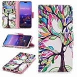 cheap -Case For Huawei P20 lite P20 Pro Card Holder Wallet with Stand Flip Pattern Full Body Cases Tree Hard PU Leather for Huawei P20 lite