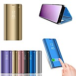 cheap -Case For Huawei P20 lite P20 with Stand Plating Mirror Full Body Cases Solid Colored Hard PU Leather for Huawei P20 lite Huawei P20 Pro