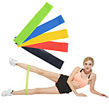 cheap -Exercise Resistance Bands With 5 pcs Emulsion Calories Burned, Non Toxic, Stretchy Strength Training, Physical Therapy For Yoga / Pilates / Fitness Home / Office