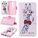 cheap -Case For Nokia Nokia 6 2018 Nokia 5 Card Holder Wallet with Stand Flip Pattern Full Body Cases Animal Hard PU Leather for Nokia 8 Nokia 6