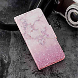 cheap -Case For Huawei P20 lite / P20 Card Holder / Wallet / with Stand Full Body Cases Marble Hard PU Leather for Huawei P20 lite / Huawei P20