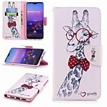 Недорогие -Кейс для Назначение Huawei P20 lite P20 Pro Бумажник для карт Кошелек со стендом Флип С узором Чехол Животное Твердый Кожа PU для Huawei