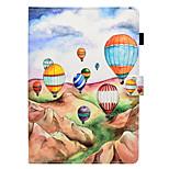 Недорогие -Кейс для Назначение Apple iPad (2017) iPad 4/3/2 Бумажник для карт со стендом Флип Чехол Воздушные шары Твердый Кожа PU для iPad Mini 4