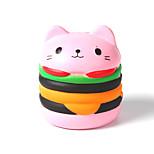 Недорогие -Резиновые игрушки / Устройства для снятия стресса Кошка / Гамбургер Стресс и тревога помощи / Декомпрессионные игрушки Others 1pcs Детские