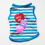 cheap -Dogs / Cats / Pets Vest Dog Clothes Striped / Simple / Heart Purple / Red / Blue Cotton Costume For Pets Female Casual / Daily / Keep Warm