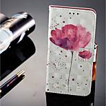 Недорогие -Кейс для Назначение Huawei P20 lite P20 Pro Бумажник для карт Кошелек со стендом Флип Магнитный Чехол Цветы Твердый Кожа PU для Huawei