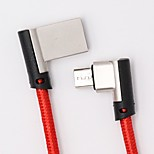 abordables -Micro USB Adaptador de cable USB Trenzado / Carga rapida Cable Para Samsung / Huawei / Nokia 120cm Textil