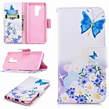 cheap -Case For LG K10 2018 / G7 Card Holder / Wallet / with Stand Full Body Cases Butterfly Hard PU Leather for LG V30 / LG V20 / LG Q6