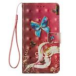 Недорогие -Кейс для Назначение Xiaomi Redmi Примечание 5A Mi 5X Бумажник для карт Кошелек со стендом Флип Магнитный Чехол Бабочка Твердый Кожа PU для