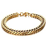 cheap -Men's 1 Chain Bracelet - Fashion Circle Gold Bracelet For Gift Daily