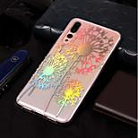 Недорогие -Кейс для Назначение Huawei P20 lite / P20 Покрытие / С узором Кейс на заднюю панель одуванчик Мягкий ТПУ для Huawei P20 lite / Huawei P20