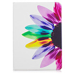 Недорогие -Кейс для Назначение Apple iPad (2017) iPad Pro 9.7 Бумажник для карт Кошелек со стендом С узором Авто Режим сна / Пробуждение Чехол Цветы