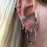 cheap -Men's / Women's 7pcs Clip Earrings / Ear Cuff - Vintage / Sexy Silver Circle / Geometric Earrings For Evening Party / Masquerade