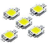 Недорогие -ZDM® 5 шт. Мощный светодиод Аксессуары для ламп LED чип Алюминий / Светодиодный индикатор чистого золота для светодиодных прожекторов 10W