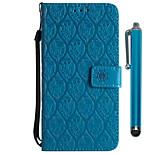 Недорогие -Кейс для Назначение Xiaomi Redmi 5 Plus / Redmi 5 Кошелек / Бумажник для карт / со стендом Чехол Цветы Твердый Кожа PU для Redmi Note 5A
