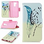 cheap -Case For LG K10 2018 / G7 Card Holder / Wallet / with Stand Full Body Cases Feathers Hard PU Leather for LG V30 / LG V20 / LG Q6