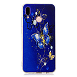 cheap -Case For Huawei P20 Pro / P10 Plus Transparent / Pattern Back Cover Butterfly Soft TPU for Huawei P20 lite / Huawei P20 Pro / Huawei P20