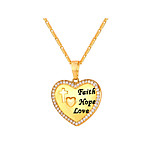 cheap -Men's Women's Pendant Necklace  -  Fashion Heart Gold Silver 55cm Necklace For Daily
