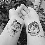 Недорогие -10pcs Стикер Тату с животными Временные тату