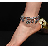 cheap -Geometric Anklet - Elephant, Heart European Gold / Silver For Daily / Women's