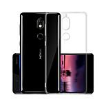 Недорогие -Кейс для Назначение Nokia Nokia 7 Прозрачный Кейс на заднюю панель Однотонный Мягкий ТПУ для Nokia 7