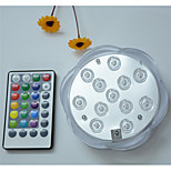 cheap -1pc 5W Underwater Lights Remote Controlled Dimmable Waterproof Decorative RGB 4.5V Suitable for Vases & Aquariums
