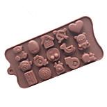 Недорогие -Инструменты для выпечки Силикон Творческая кухня Гаджет Шоколад / многообещающий Десертные инструменты 1шт