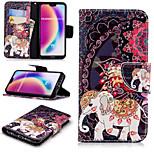 Недорогие -Кейс для Назначение Huawei P20 Pro / P20 lite Кошелек / Бумажник для карт / со стендом Чехол Слон Твердый Кожа PU для Huawei P20 / Huawei