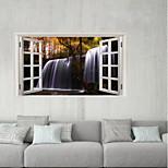 Недорогие -Декоративные наклейки на стены / Наклейки на холодильник - 3D наклейки Пейзаж / Цветочные мотивы / ботанический Спальня / Кухня