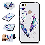 cheap -Case For Xiaomi Redmi Note 5A Redmi Note 4 Pattern Back Cover Feathers Soft TPU for Xiaomi Redmi Note 5A Xiaomi Redmi Note 4 Xiaomi Redmi