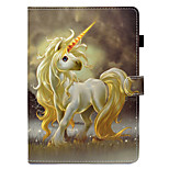 cheap -Case For Apple iPad (2017) iPad 4/3/2 Card Holder with Stand Flip Full Body Cases Unicorn Hard PU Leather for iPad Mini 4 iPad Mini 3/2/1