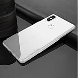 Недорогие -Кейс для Назначение Xiaomi Xiaomi Mi Mix 2S Ультратонкий Прозрачный Кейс на заднюю панель Однотонный Мягкий ТПУ для Xiaomi Mi Mix 2S