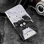 Недорогие -Кейс для Назначение Wiko WIKO Sunny 2 plus Кошелек / Бумажник для карт / со стендом Чехол Кот Твердый Кожа PU для Wiko View prime / Wiko