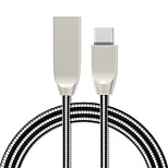 preiswerte -Typ-C USB-Kabeladapter Schnelle Aufladung Kabel Für Samsung / Huawei / LG 100cm TPE