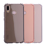 cheap -Case For Huawei P20 lite P20 Shockproof Translucent Transparent Back Cover Solid Colored Soft TPU for Huawei P20 lite Huawei P20
