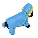 cheap -Dogs / Cats / Pets Rain Coat / Waterproof / Puffer / Down Jacket Dog Clothes Solid Colored / Color Block / Simple Yellow / Fuchsia / Blue