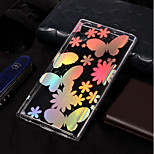 cheap -Case For Sony Xperia L2 / Xperia L1 Plating / Pattern Back Cover Butterfly Soft TPU for Xperia L2 / Sony Xperia L1