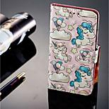 Недорогие -Кейс для Назначение Huawei P20 lite P20 Pro Бумажник для карт Кошелек со стендом Флип Магнитный Чехол единорогом Твердый Кожа PU для